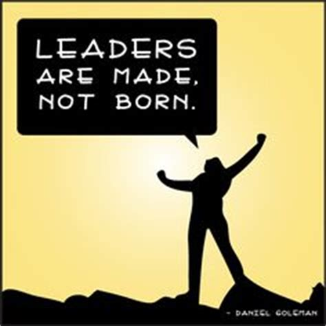 Leaders born not made essay